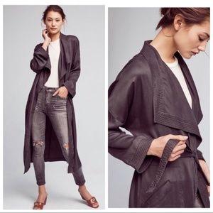 Hei Hei Anthropologie Trapunto Robe Coat Belted